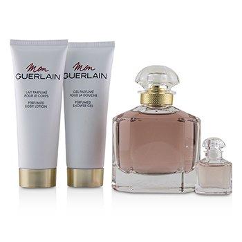 Mon Guerlain Coffret: Eau De Parfum Spray 100ml/3.3oz + Eau De Parfum 5ml/0.16oz + Perfumed Body Lotion 75ml/2.5oz + Perfumed Shower Gel 75ml/2.5oz  4pcs