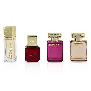 Miniature Coffret: Sexy Amber Eau De Parfum + Sexy Ruby Eau De Parfum + Wonderlust Essence Eau De Parfum + Wonderlust Eau De Parfum  4x4ml/0.14oz