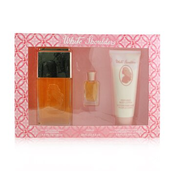 White Shoulders Coffret: Eau De Cologne Spray 133ml/4.5oz + Body Lotion 100ml/3.3oz + Parfum 7.5ml/0  3pcs
