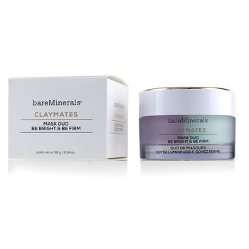Claymates Be Bright & Be Firm Mask Duo  58g/2.04oz