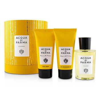 Colonia Coffret: Eau De Cologne Spray 100ml/3.4oz + Bath And Shower Gel 75ml/2.5oz + Body Cream 75ml/2.5oz  3pcs