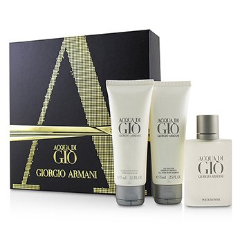 da09032dfda4 Acqua Di Gio Coffret  Eau De Toilette Spray 50ml 1.7oz + All Over Body  Shampoo 75ml 2.5oz + After Shave Balm 75ml 2.5oz