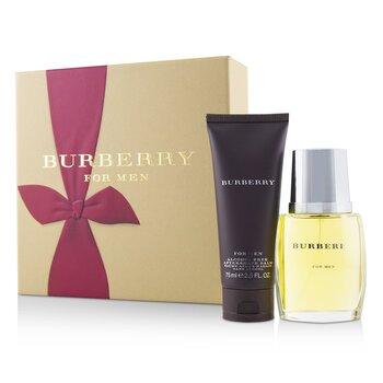 Burberry Coffret: Eau De Toilette Spray 50ml/1.7oz + After Shave Balm 75ml/2.5oz  2pcs