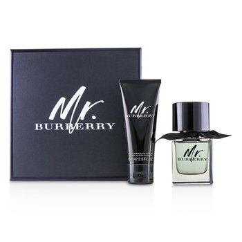 Mr. Burberry Coffret: Eau De Toilette Spray 50ml/1.6oz + After Shave Balm 75ml/2.5oz  2pcs