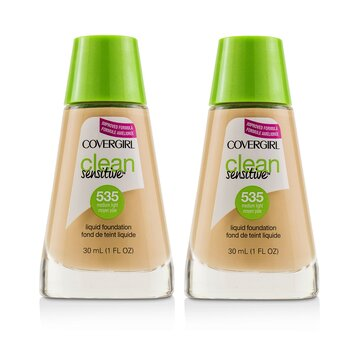Clean Sensitive Liquid Foundation Duo Pack  2x30ml/1oz