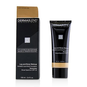 Leg and Body Make Up Buildable Liquid Body Foundation Broad Spectrum SPF 25  100ml/3.4oz