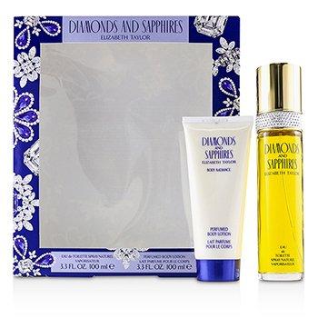 Zestaw Diamonds & Sapphires Coffret: Eau De Toilette Spray 100ml/3.3oz + Perfumed Body Lotion 100ml/3.3oz  2pcs