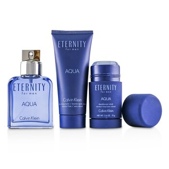 Eternity Aqua Набор: Туалетная Вода Спрей 100мл/3.4унц + Бальзам После Бритья 100мл/3.4унц + Дезодорант Стик 75г/2.6унц  3pcs