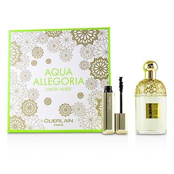Aqua Allegoria Limon Verde Coffret: Eau De Toilette Spray 125 ml + Cils D'Enfer Maxi Lash Volume Creating-Curl Sculpting Mascara 01 Noir 8,5 ml  2pcs