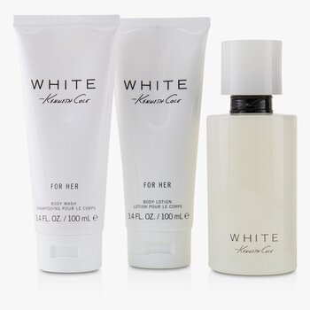 White Coffret: Eau De Parfum Spray 100ml/3.4oz + Body Lotion 100ml/3.4oz + Bath & Shower Gel 100ml/3.4oz  3pcs