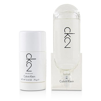 CK2 Coffret: Eau De Toilette Spray 100ml/3.4oz + Deodorant Stick 75ml/2.6oz  2pcs