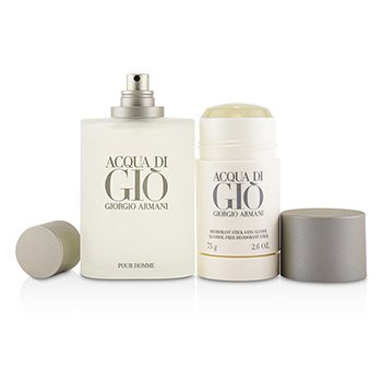 Acqua Di Gio Coffret: Eau De Toilette Spray 100ml/3.4oz + Alcohol-Free Deodorant Stick 75ml/2.6oz  2pcs