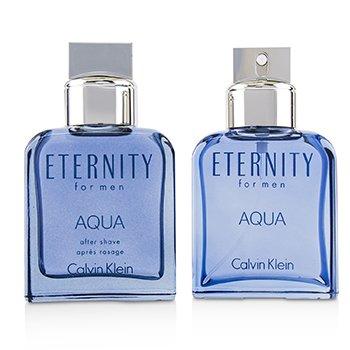 Eternity Aqua Coffret: Eau De Toilette Spray 100ml/3.4oz + After Shave Lotion 100ml/3.4oz  2pcs