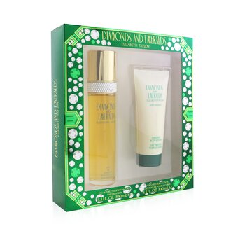 Diamond & Emerald Coffret: Eau De Toilette Spray 100ml/3.3oz + Perfumed Body Lotion 100ml/3.3oz  2pcs