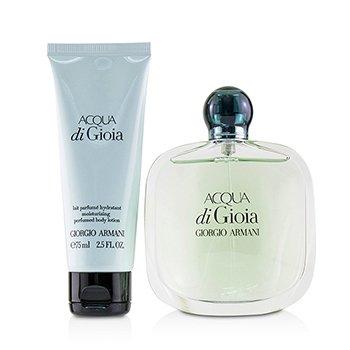 Acqua Di Gioia Coffret: Eau De Parfum Spray 100ml/3.4oz + Loción Corporal Perfumada Hidratante 75ml/2.5oz  2pcs