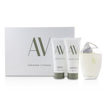 AV Coffret:Eau De Parfum Spray 90ml/3oz + Body Lotion 100ml/3.4oz + Shower Gel100 ml  3pcs