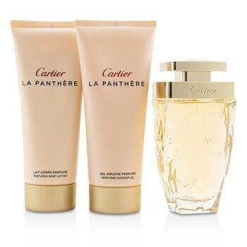 La Panthere Набор: Парфюмированная Вода Спрей Legere 75мл/2.5унц + Парфюмированный Лосьон для Тела 100мл/3.3унц + Парфюмированный Гель для Душа 100мл/3.3унц  3pcs