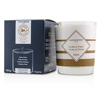 Functional Scented Candle - Neutralize Pet Smells (Fruity and Floral)  180g/6.3oz