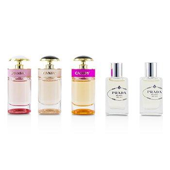 Miniature Coffret: Les Infusions De Iris  8ml + De Fleur D'Oranger  8ml + Candy 7ml + Candy Florale 7ml + Candy L'Eau 7ml  5pcs