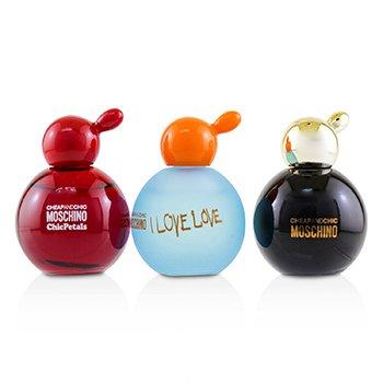 Zestaw Cheap & Chic Coffret: Classic Eau De Toilette + I Love Love Eau De Toilette + Chic Petals Eau De Toilette  3x4.9ml/0.16oz