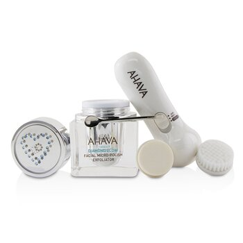 Diamond Glow Facial Micro-Polish Exfoliator (1x Micro-Exfoliating Cream 50ml, 1x Cleansing Device, 1x Brush Head)  -