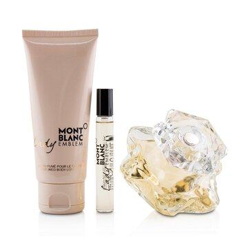 Lady Emblem Coffret: Eau De Parfum Spray 75ml/2.5oz + Perfumed Body Lotion 100ml/3.3oz + Eau De Parfum Spray 7.5ml/0.25oz  3pcs