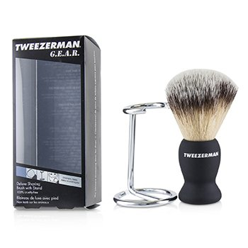 G.E.A.R. Deluxe Shaving Brush with Stand  2pcs