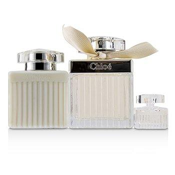 Zestaw Fleur De Parfum Coffret: Eau De Parfum Spray 75ml/2.5oz + Perfumed Body Lotion 100ml/3.4oz + Eau De Parfum 5ml/0.17oz  3pcs