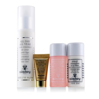 All Day All Year Essential Anti-Aging Program: All Day All Year 50ml + Cleansing Milk 30ml + Floral Toning Lotion 30ml + Supremya At Night 5ml  4pcs