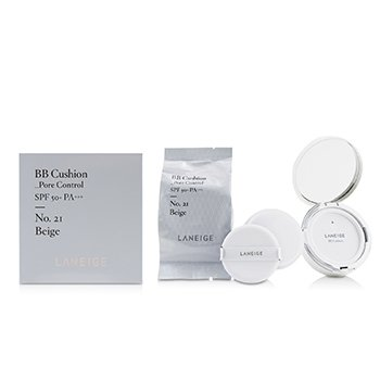 BB Cushion Foundation (Pore Control) SPF 50 With Extra Refill  2x15g/0.5oz