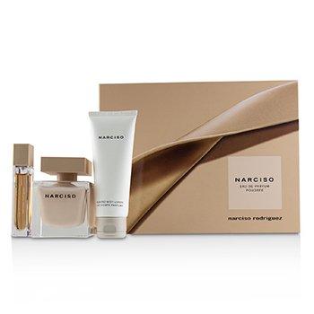 Narciso Poudree Coffret: Eau De Parfum Spray 90ml/3oz + Scented Body Lotion 75ml/2.5oz +Eau De Parfum Purse Spray 10ml/0.33oz  3pcs