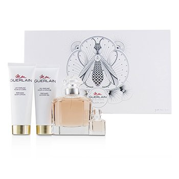 Mon Guerlain Coffret: Eau De Toilette Spray 100ml/3.3oz + Perfumed Body Lotion 75ml/2.5oz + Perfumed Shower Gel 75ml/2.5oz + Eau De Toilette 5ml/0.16oz  4pcs