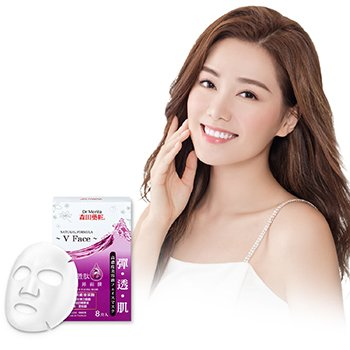 Natural Hydrating Care Series - Syn-Ake Essence Facial Mask (V Face) 8pcs