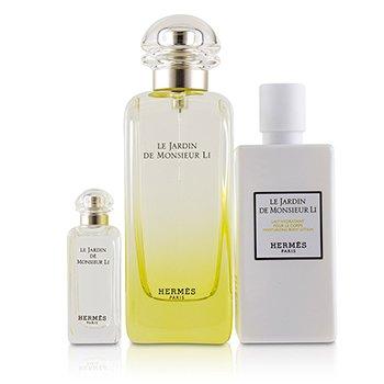 Zestaw Le Jardin De Monsieur Li Coffret: Eau De Toilette Spray 100ml/3.3oz + Moisturizing Body Lotion 80ml/2.7oz + Eau De Toilette 7.5ml/0.25oz  3pcs