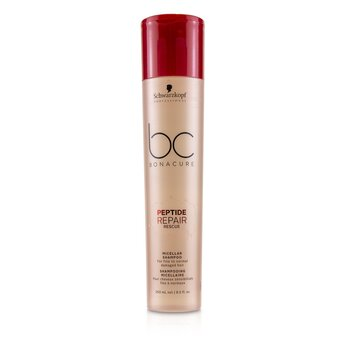 BC Bonacure Peptide Repair Rescue Micellar Shampoo (For Fine to Normal Damaged Hair)  250ml/8.5oz