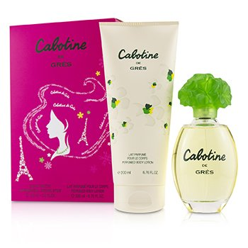 Cabotine Coffret: Eau De Toilette Spray 100ml/3.4oz + Perfumed Body Lotion 200ml/6.76oz  2pcs