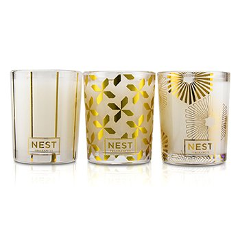 Festive Votive Trio Candles Coffret: Holiday, Birchwood Pine, Spiced Orange & Clove 3x57g/2oz