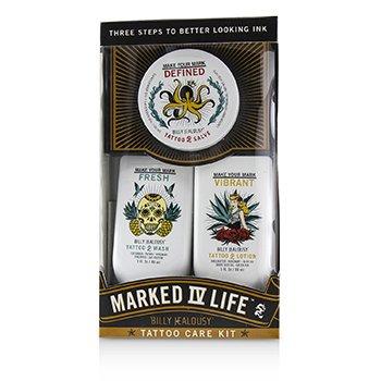 Marked IV Life Tattoo Care Kit: Tattoo Wash 88ml + Tattoo Lotion 88ml + Tattoo Slave 57g  3pcs