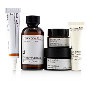Discover The Power Essentials Kit: Nutritive Cleanser+Firming Activator+Finishing Moisturizer+Eye Cream+Vitamin C Ester  5pcs
