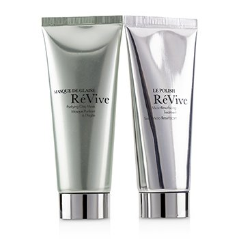 Perfect Companions Purifying Travel Collection: Purifying Clay Mask 75g + Micro-Resurfacing Treatment 75g  2pcs+1bag