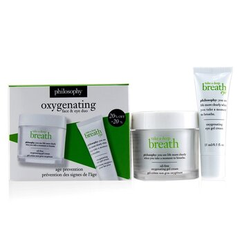 Take A Deep Breath Oxygenating Face & Eye Duo: Face Gel Cream 60ml + Eye Gel Cream 15ml  2pcs
