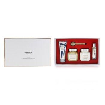 Almond Coconut Milk Luxe Body Collection: Eau De Toilette Spray 15ml/0.5oz + Souffle Body Creme 200ml/6.7oz + Honey Bath 200ml/6.7oz + Creme Body Wash 100ml/3.4oz  4pcs