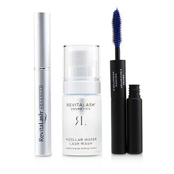 Lash Perfecting Gift Collection : ( 1x Eyelash Conditioner, 1x Conditioning Eye Makeup Remover, 1x Volumizing Masacara Black)  3pcs