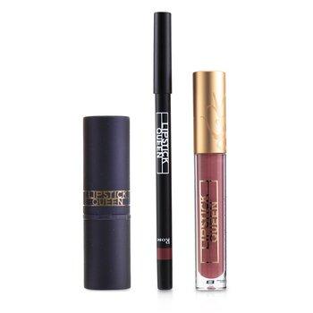 Kiss From A Rose Full Size Lip Trio : (1x Lip Liner, 1x Lip Gloss, 1x Lipstick)  3pcs