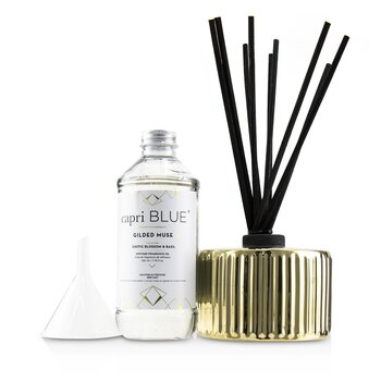 Gilded Muse Reed Diffuser - Exotic Blossom & Basil  230ml/7.75oz
