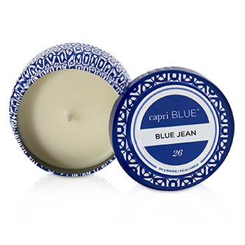 Printed Travel Tin Candle - Blue Jean  241g/8.5oz
