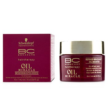 BC Bonacure Oil Miracle Refined Brazilnut Oil Booster (For All Hair Types)  15x1ml/0.5oz