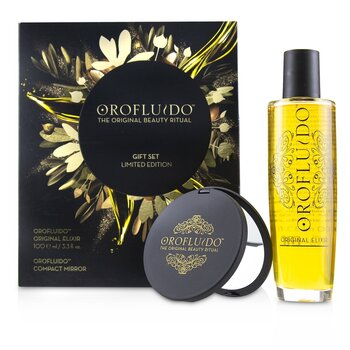 The Original Beauty Ritual Limited Edition Gift Set: Original Elixir 100ml + Compact Mirror  2pcs