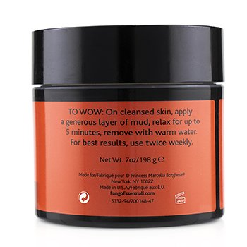 Fango Essenziali Energize Mud Mask with Coffee Seed, Activated Charcoal & Caffeine  198g/7oz