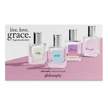 Live. Love. Grace Coffret: Fresh Cream + Living Grace + Love Joyously + Loveswept  4x15ml/0.5oz